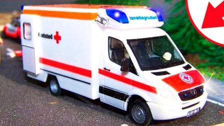 汽车总动员救护车和赛车比赛导致车祸  托马斯华达影视