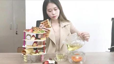美女办公室餐饮, 用吹风机和烫发机做一顿下午茶, 厉害了!