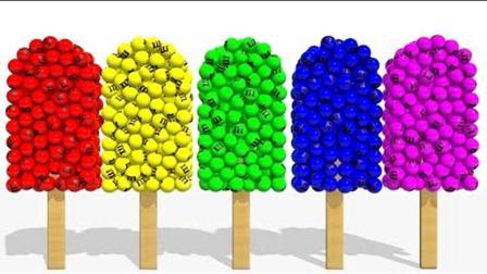 3D立体棒棒糖雪糕! 学习英文颜色