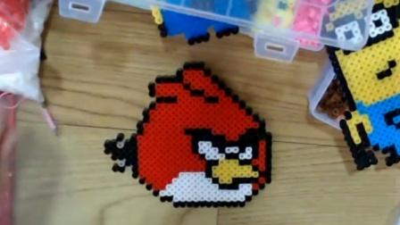 小民-2: 创意拼豆DIY-愤怒的小鸟-红火