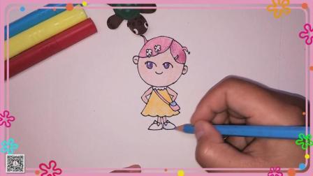 小美简笔画 卡通人物简笔画 简笔画教程 卡通小女孩