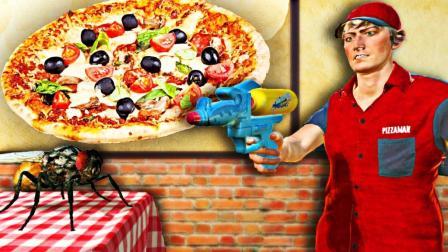【屌德斯解说】 苍蝇模拟器 你见过找苍蝇当服务员的披萨店吗?