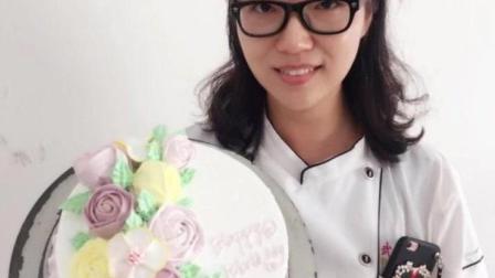 蛋糕裱花培训班做的花卉蛋糕 象花儿一样美好--余香蛋糕培训学校