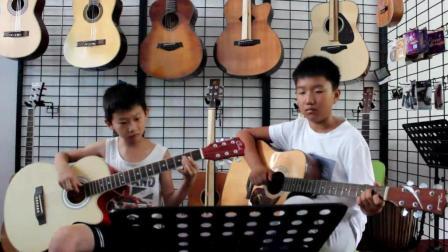 吉他二重奏《虫儿飞》济源原声琴行 小学员的展示!