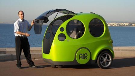 印度开挂汽车, 加点空气就能跑, 没有方向盘, 怎么转向?