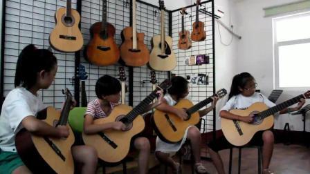古典吉他四重奏《但愿人长久》济源原声琴行 小学员的展示