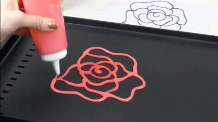 创意玫瑰花奶油蛋糕薄饼制作 步骤简单自己在家就能做