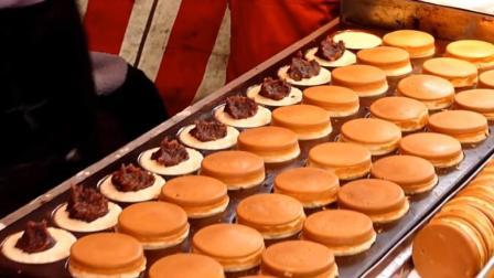 日本街头小吃: 没想到铜锣烧还有这种操作