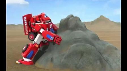超级飞侠: 巨大石头挡住了画画的乐迪, 还好有它们的帮忙