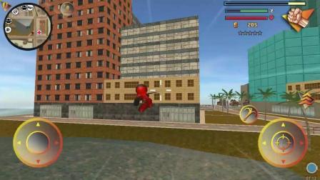 火柴人蜘蛛侠 英雄游戏玩法 吐丝跨河追击罪犯
