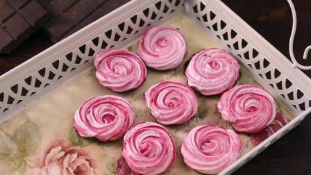 低热量又好看的巧克力玫瑰蛋白糖霜饼干