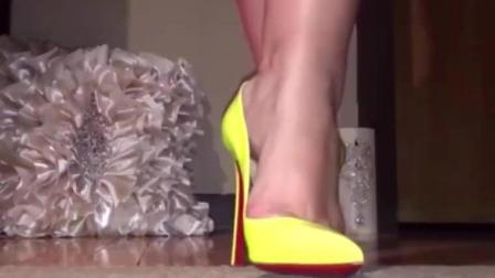 18cm高跟鞋防水设计, 夏季搭配亮色合适!