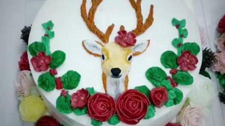 广州圆梦韩式裱花培训班学员浮雕蛋糕作品, 各有不同