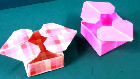 心形收纳盒的折法, DIY折纸艺术作品, 动手动脑, 叠一款心爱的小纸盒