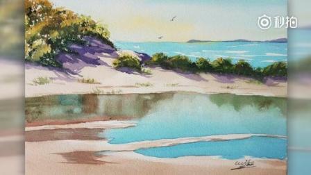 让水彩带你看风景, 水彩画《海塘》