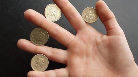 魔术教学: 纯手法空手消失硬币! 看完教学不服不行