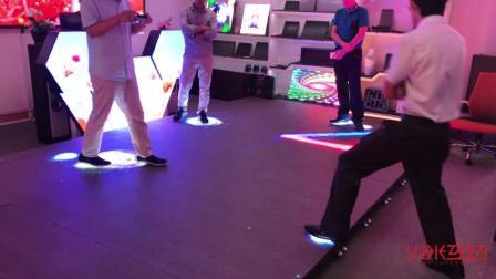 用在室外的LED地砖红外感应互动游戏案例-火米互动