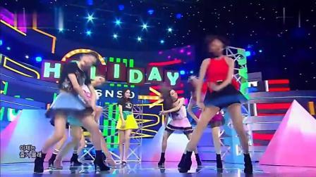 少女时代《Holiday》现场热舞, 这才是韩国天团舞蹈最高水平! ,