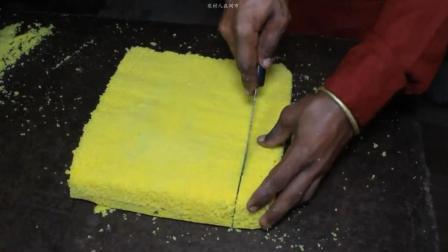 印度街头海绵蛋糕, 现做现烤的大蛋糕, 看三哥如何一本正经做美食