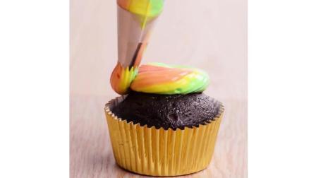 超美彩虹芯杯子蛋糕制作教程