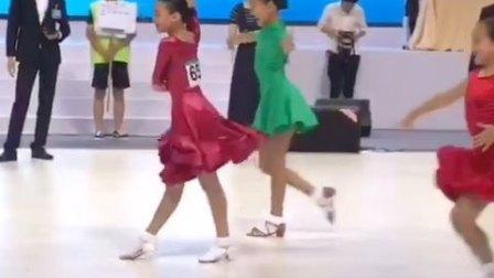 舞蹈少儿拉丁舞比赛#常州国际公开赛10岁A组B组淘汰赛