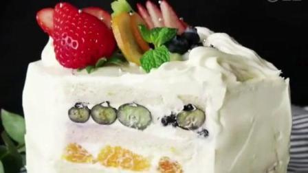 教你10分钟用面包片做水果蛋糕, 超好看, 美味又健康!