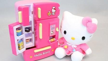 凯蒂猫冰箱饮料自动售货机玩具冰淇淋冰箱玩具