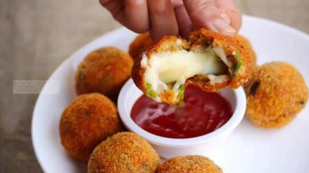 小吃美食教学 美味超赞的芝士鸡肉球!