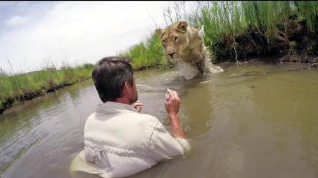 男子照顾被遗弃狮子 拥抱亲吻似亲人
