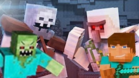 大海解说 我的世界Minecraft 僵尸战争村庄保卫战