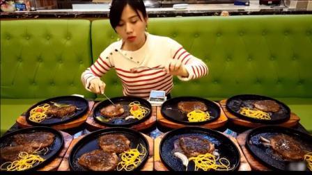大胃王密子君吃垮自助餐系列, 10牛排+一大盘虾+泡芙+蛋糕, 吃到餐厅老板想自杀