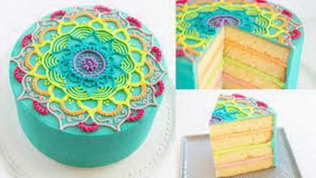 彩虹蛋糕 原来是这样做出来的!