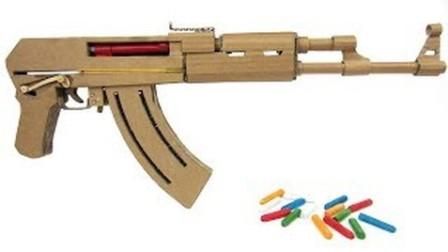 【极酷花园】用纸盒子制作'AK47步枪';的过程(带设计图)【DIY】