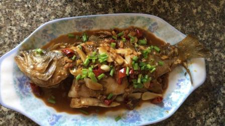 超好吃的红烧鱼的做法视频教程 鲈鱼怎么做好吃 红烧鲈鱼的做法大全 舌尖上的美食