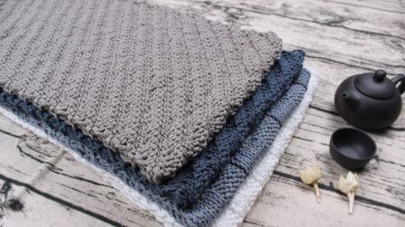 织一片慢生活—-斜纹花围巾编织教程如何织