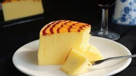 4分钟学会制作软绵蛋糕, 拉花轻乳酪蛋糕。