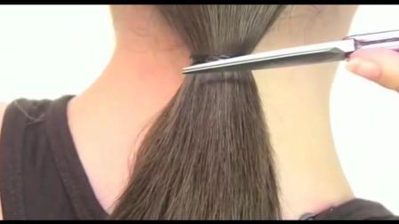 长发女孩自己剪成短发, 效果那么漂亮