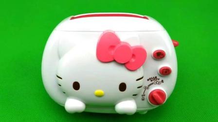 迪士尼玩具 凯蒂猫的烤面包机 过家家