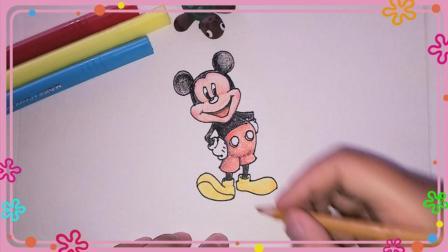 米老鼠简笔画 卡通人物简笔画 简笔画教程