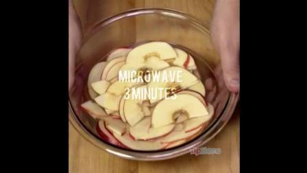 用苹果当食材, 烘焙出的玫瑰花蛋糕简直太美了!