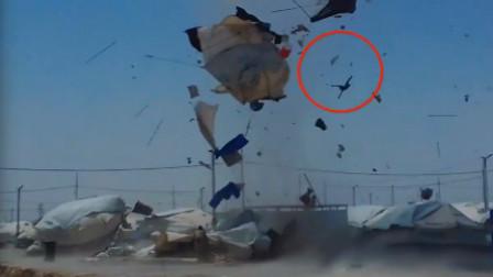 男孩被风暴裹挟到空中 旋转数圈后坠地
