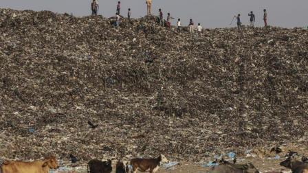 印度垃圾学校, 政府将垃圾倒进学校称为修路, 4年累计垃圾超18米高!