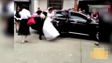 生活糗事: 笑岔气了, 婚礼上新郎抱不住新娘!