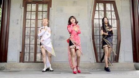 桃源恋歌 三位漂亮小姐姐旗袍装 腿终于变长了点!