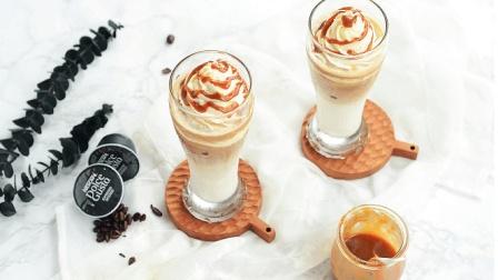 雪顶咖啡, 简单优雅的浓香冰饮 一口咬掉雪山冰激凌, 咖啡的芳香, 享受冰爽品味生活。