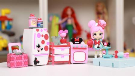 米妮主题购物 杯子蛋糕玩具分享