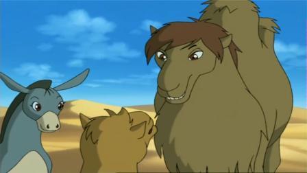 小虎归乡小虎奔奔清醒求助骆驼们救援,被绑提出求助小男孩