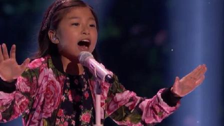 9岁华人女孩谭芷昀再挑战高音 气场强大的天籁之音