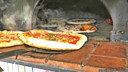 制作饼皮像玩杂技 经典那不勒斯披萨 意大利街头美食