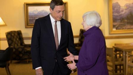 耶伦、德拉吉全球央行年会上演二人转, 欧元美元谁影响最大?